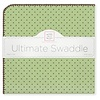 Ultimate Swaddle Blanket Pastel with Brown Polka Dots