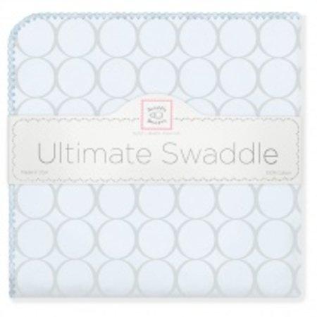 Swaddle Designs Ultimate Swaddle Blanket Sterling Mod Circles on Sunwashed Pastels