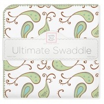 Ultimate Swaddle Blanket Triplets Paisley