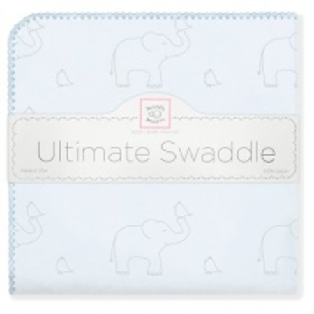 Swaddle Designs Ultimate Swaddle Blanket Sterling Deco Elephants on Sunwashed Pastels