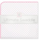 Swaddle Designs Ultimate Swaddle Blanket Pastel with Pastel Polka Dots and Trim Pastel