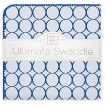 Ultimate Swaddle Blanket Pastel with Jewel Tone Mod Circles