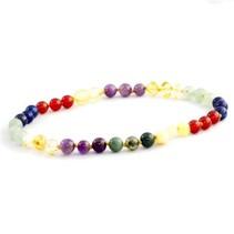 Gemstones & Amber Bracelet and Necklace