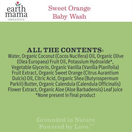 Earth Mama Organics Sweet Orange Baby Wash
