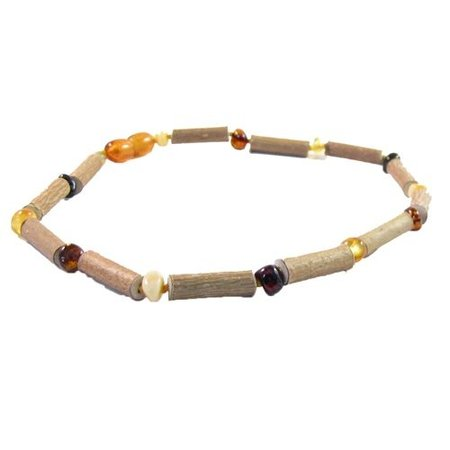 The Amber Monkey Baltic Amber and Hazelwood Necklace by The Amber Monkey
