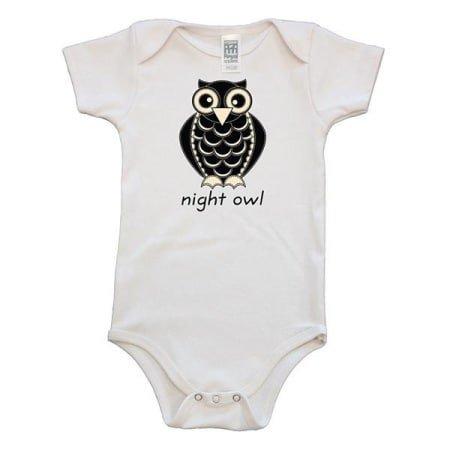 Simply Chickie Clothing Night Owl Organic Onesie
