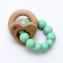 Wood + Silicone Heart Teether