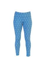 Go2 Leggings - Blue Ikat - LG