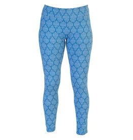 Go2 Leggings - Blue Ikat - SM