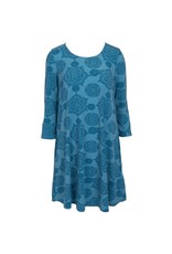 Essential Tunic Dress - Abstract Blues - LG/XL