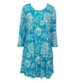 Essential Tunic Dress - Sky Floral XXL