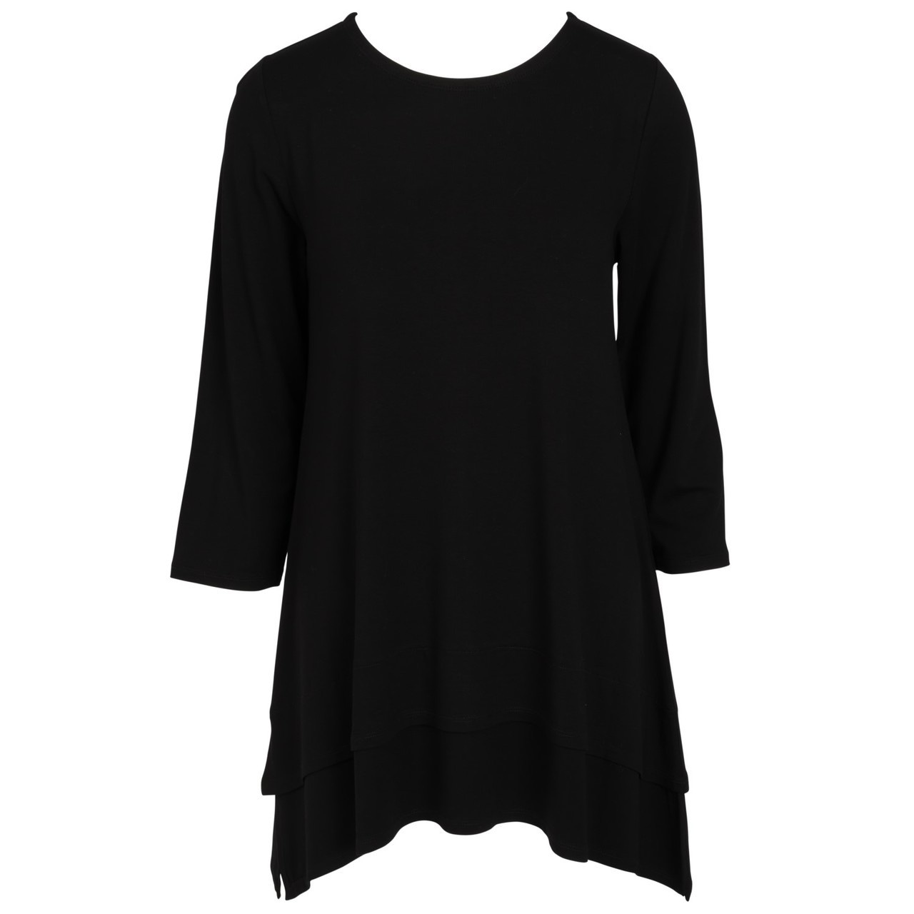 Double Layer Tunic - Black - XXL