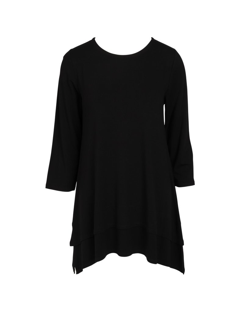 Double Layer Tunic - Black - SM/MED