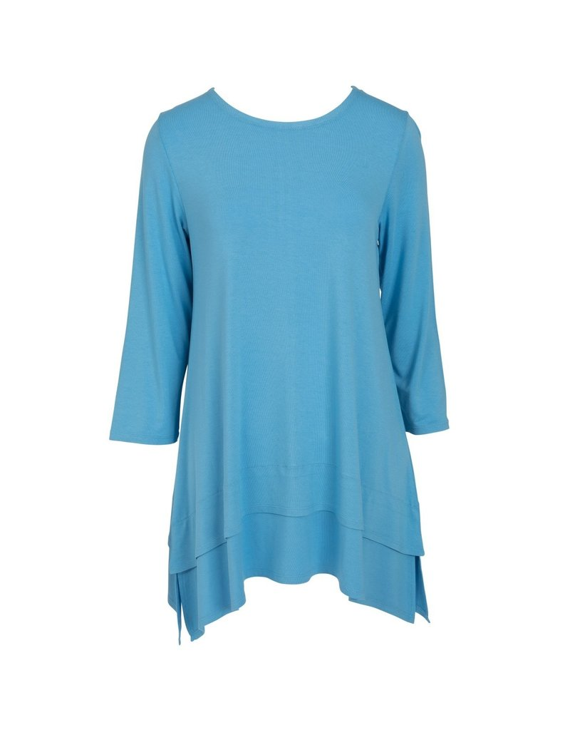 Double Layer Tunic - Azure Blue XS