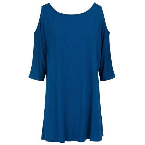 Breezy Shoulder Tunic - Lapis Blue XS