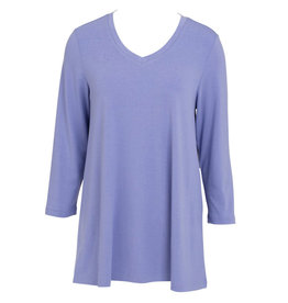 Essential V-Neck Tunic - Periwinkle XXL