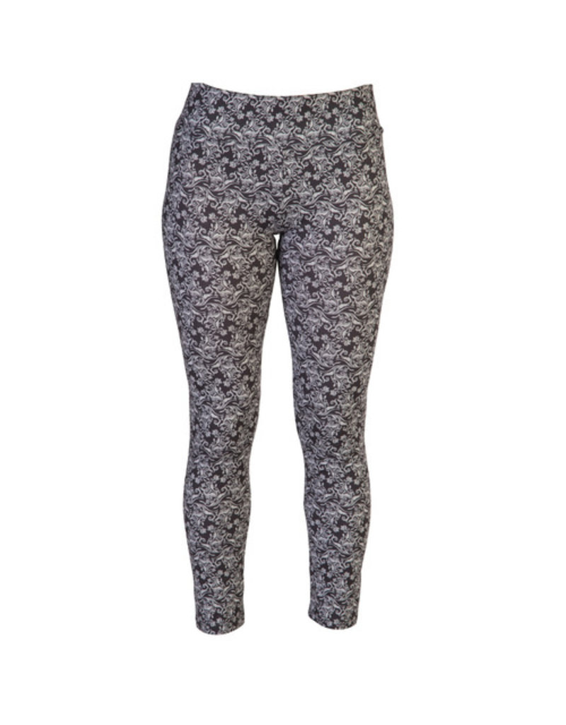 Go2 Legging - Damask Black Grey - Large