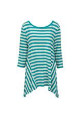 Nantucket Tunic - Turquoise  White  LG/XL