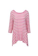Nantucket Tunic-Pink White XXL