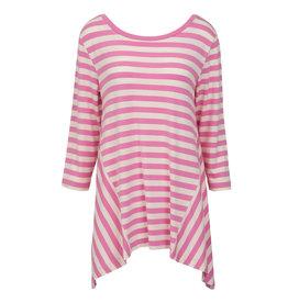 Nantucket Tunic - Pink & White XS