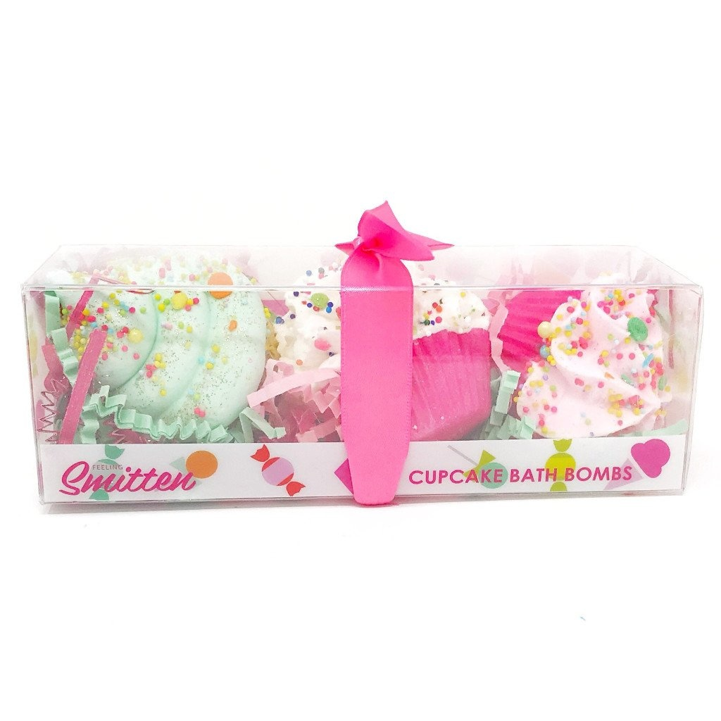 Feeling Smitten Fruity Trio Set of Cupcake Bath Bombs