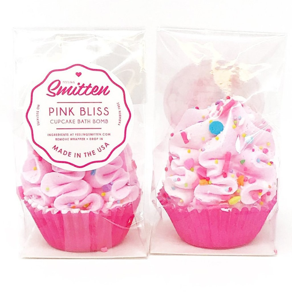 Feeling Smitten Mini Pink Bliss Cupcake Bath Bomb