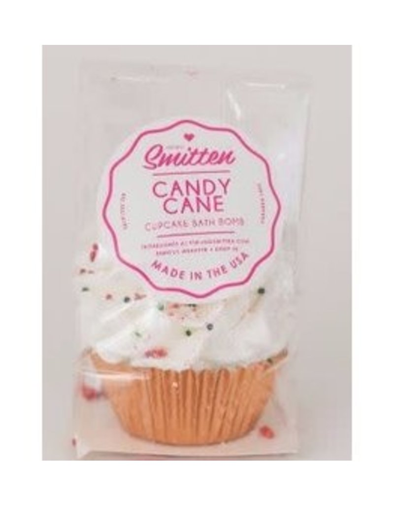 Feeling Smitten Mini Candy Cane Cupcake Bath Bomb