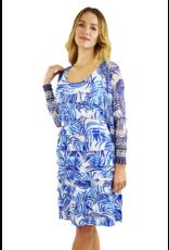 Tango Mango Royal Blue & White Ruffle Dress XL