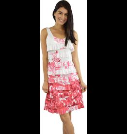Tango Mango Fuchsia Botanical Ruffle Dress S