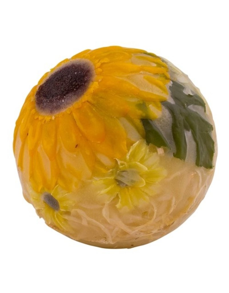 Habersham Candle Co Sunflower Lemon Vanilla Wax Pottery Sphere