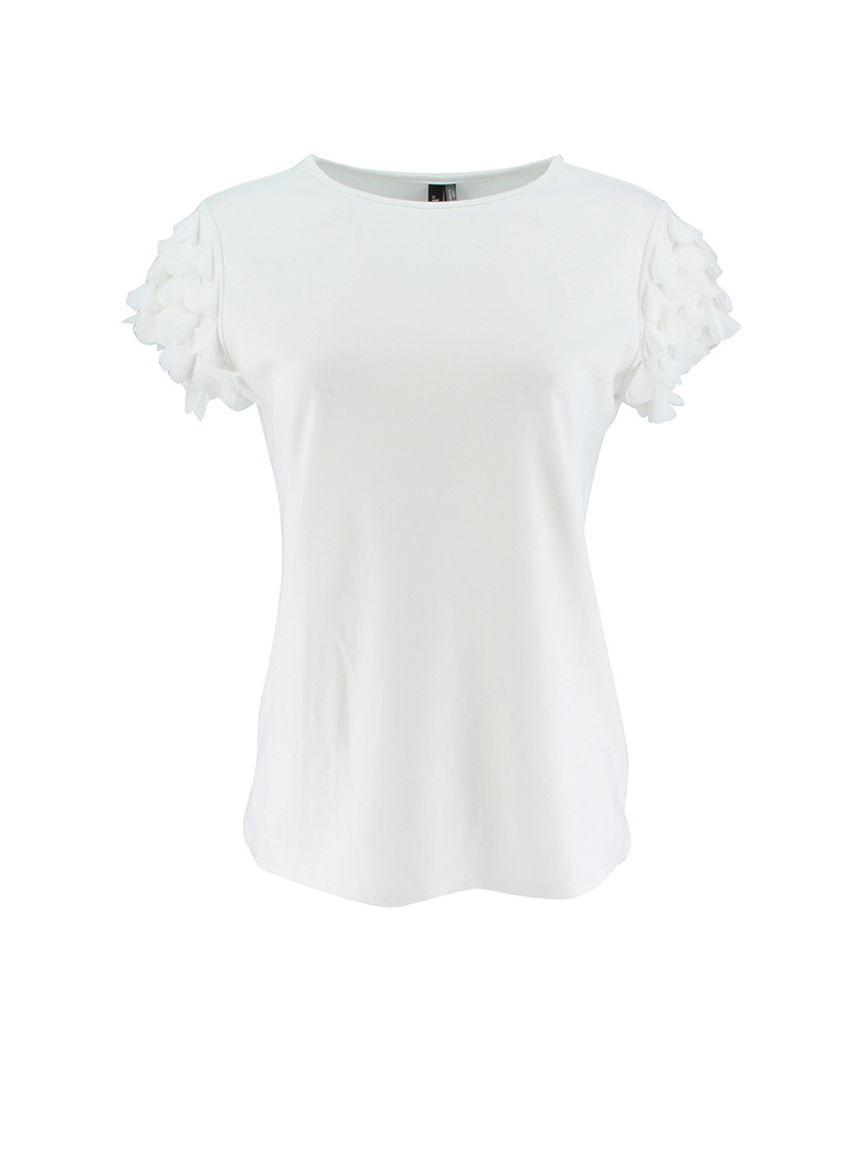 Ravel Butterfly Sleeve Tee White Large