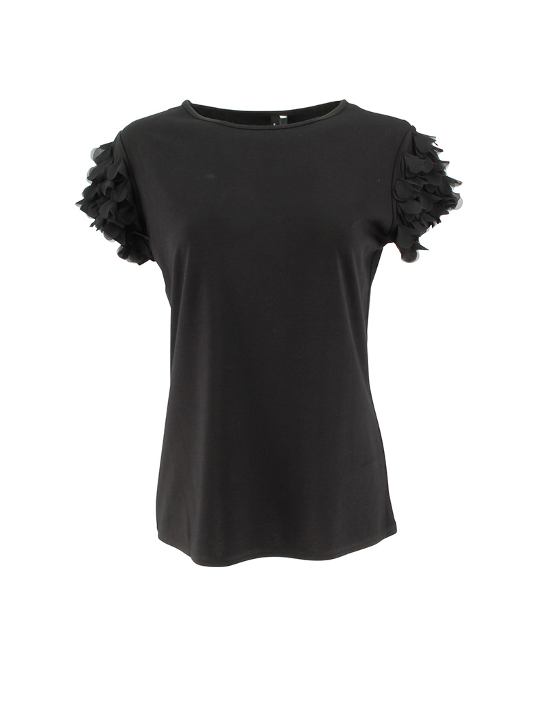 Ravel Butterfly Sleeve Tee Black X-Large