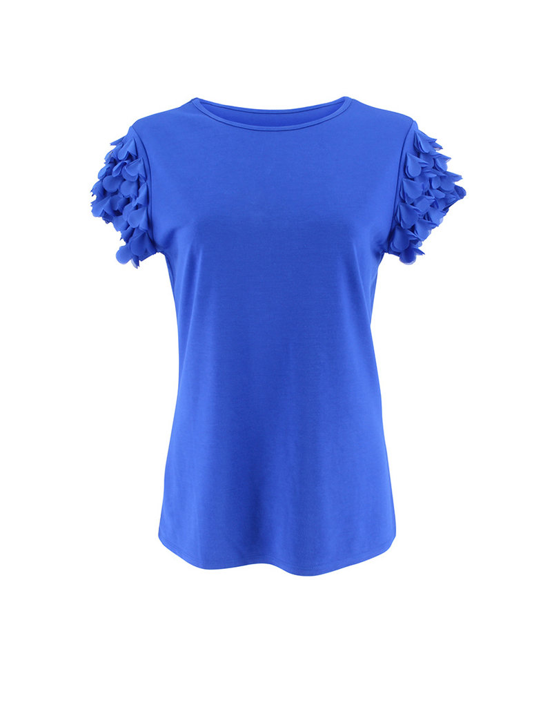 Ravel Butterfly Sleeve Tee Royal X-Large