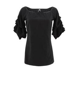 Ravel Black Scrunchy Sleeve Tee X-Large
