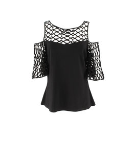 Ravel Black Peekaboo Top Medium