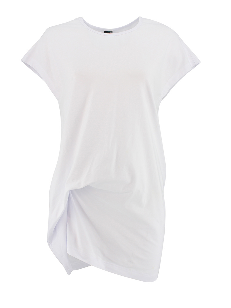 Ravel Long Twisted Tee White Small