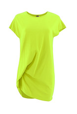 Ravel Long Twisted Tee Lime Small