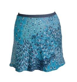 Groovy Judes Peacock Mini Skirt XS