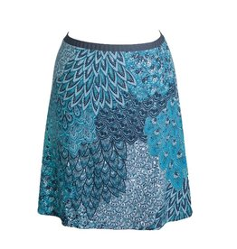 Groovy Judes Peacock Middie Skirt Small