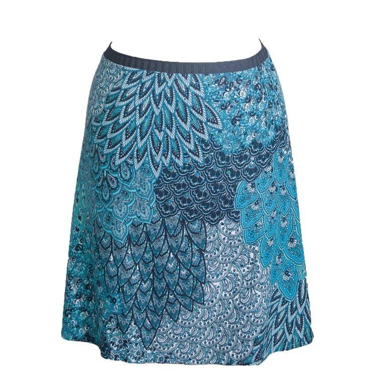 Groovy Judes Peacock Middie Skirt XS