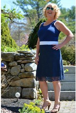 Groovy Judes Lace Skirt w/Roll Waist Band Navy XS