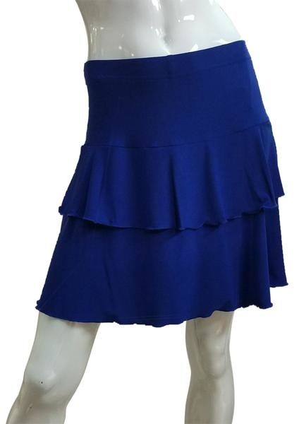 Fashque Royal Blue Ruffle Skort Medium