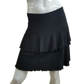 Fashque Black Ruffle Skort XL