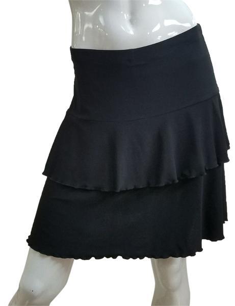 Fashque Black Ruffle Skort Large