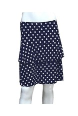 Fashque Navy and White Polka Dot Ruffle Skort Medium