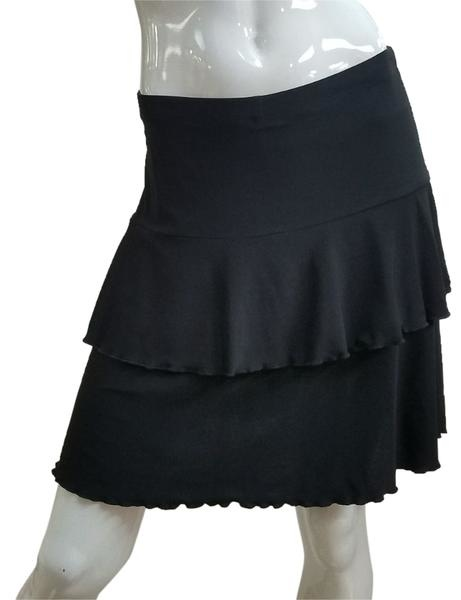 Fashque Black Ruffle Skort Medium