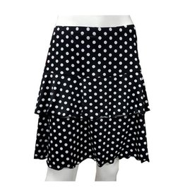 Fashque Black and White Polka Dot Ruffle Skort Small