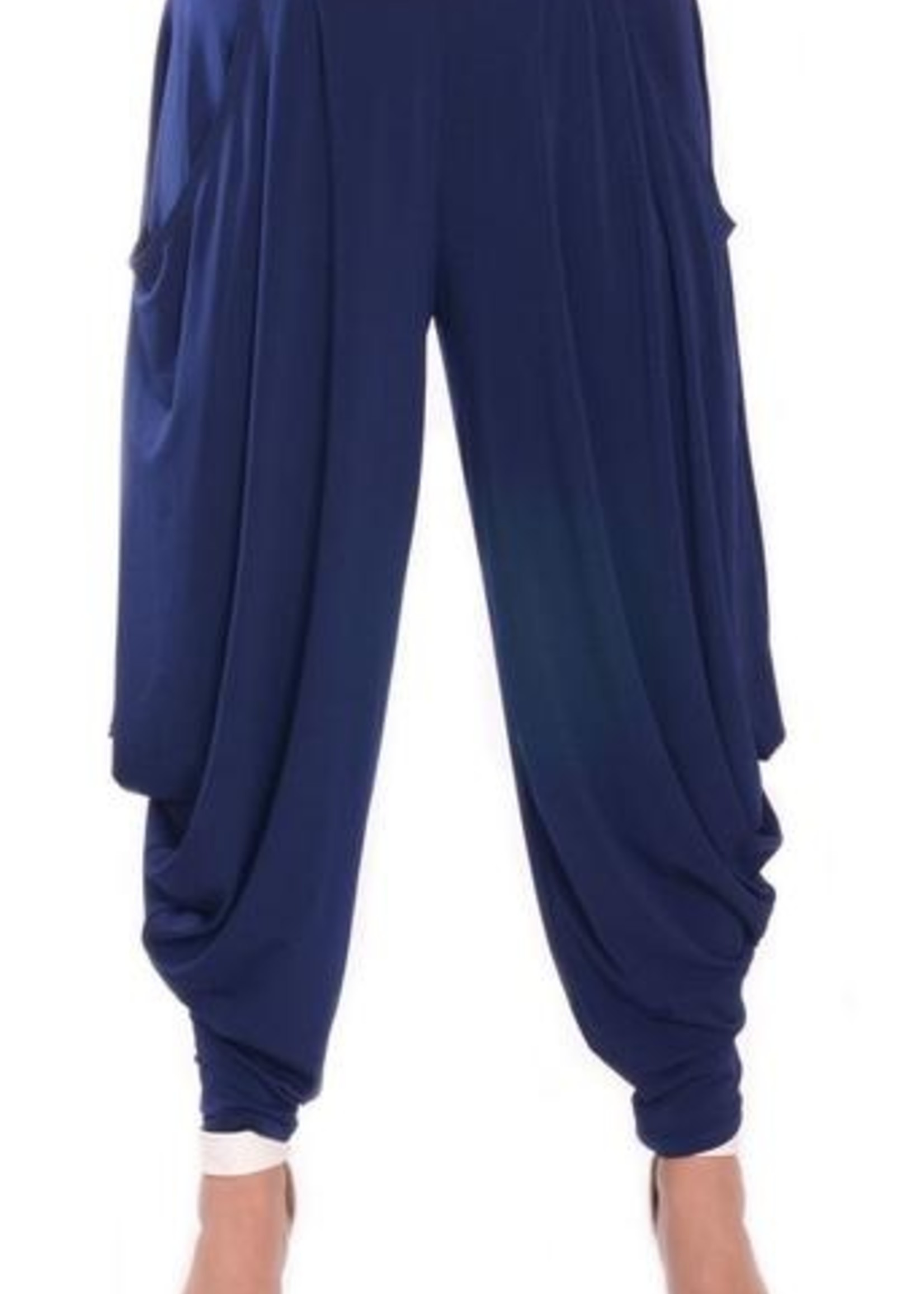 Fashque Drop Pocket Pants Navy Medium