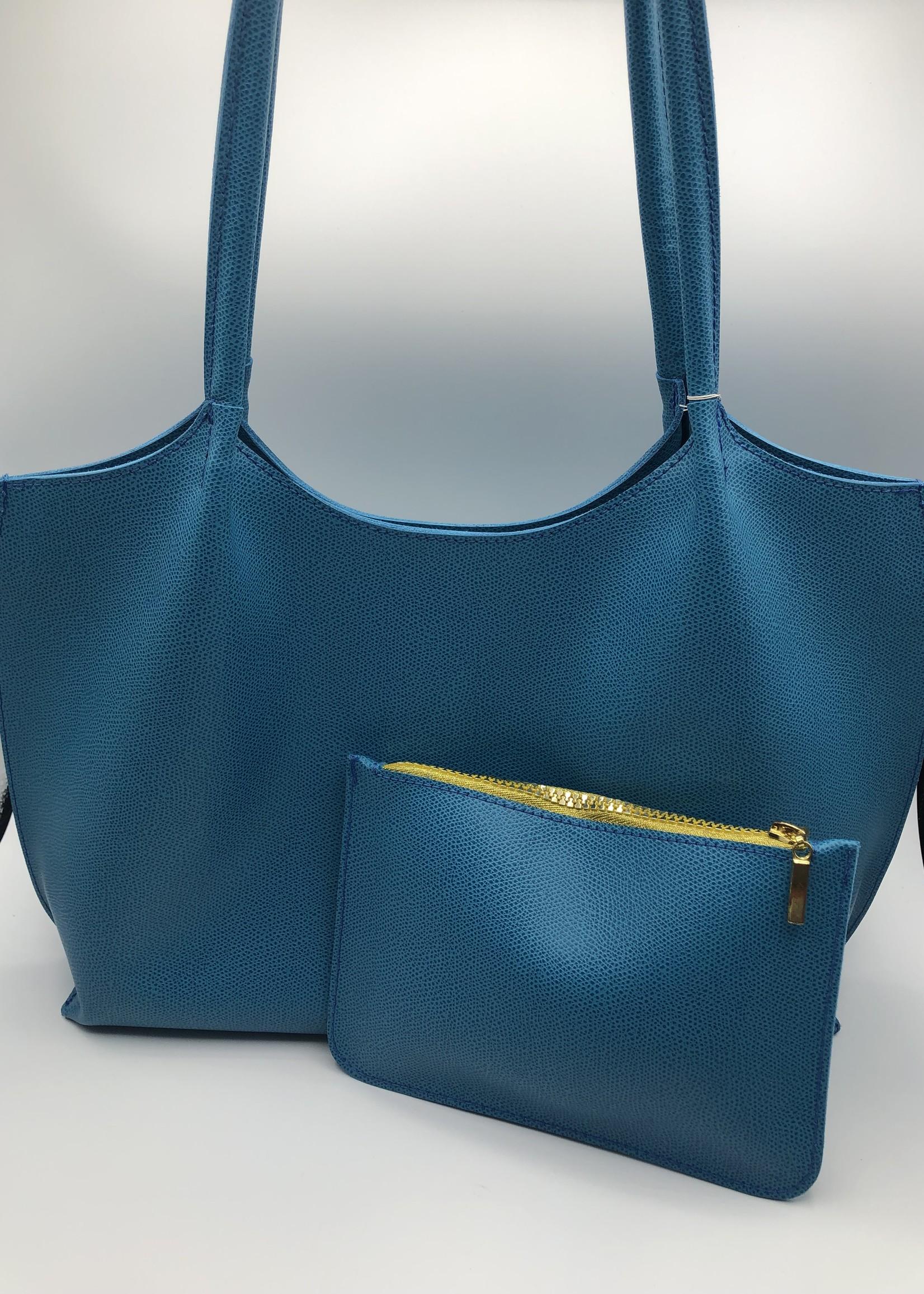 BogaBag Turquoise Tote Bag with Separate Inside Pocket