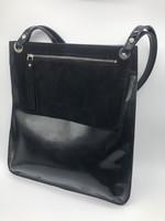 BogaBag Black Patent Tote Bag with Pouch